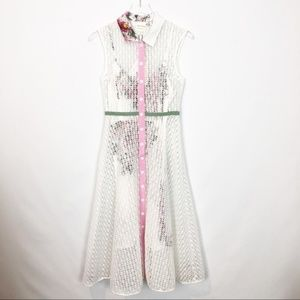Tracy Reese Ivory Lace Cherryblossom Dress 2 NWT